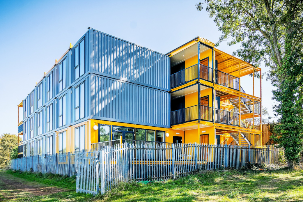 Bristol Launchpad container apartments exterior