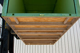 Underneath of standard shipping container