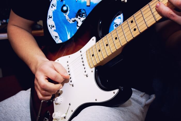 Guitar being played