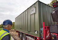 Installing a container home/3.
