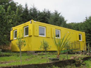 Bright yellow container building